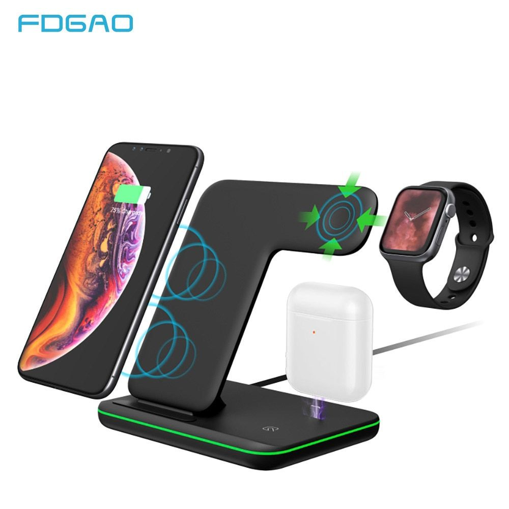 15w qi fast wireless charger for iphone x xs xr 8 for