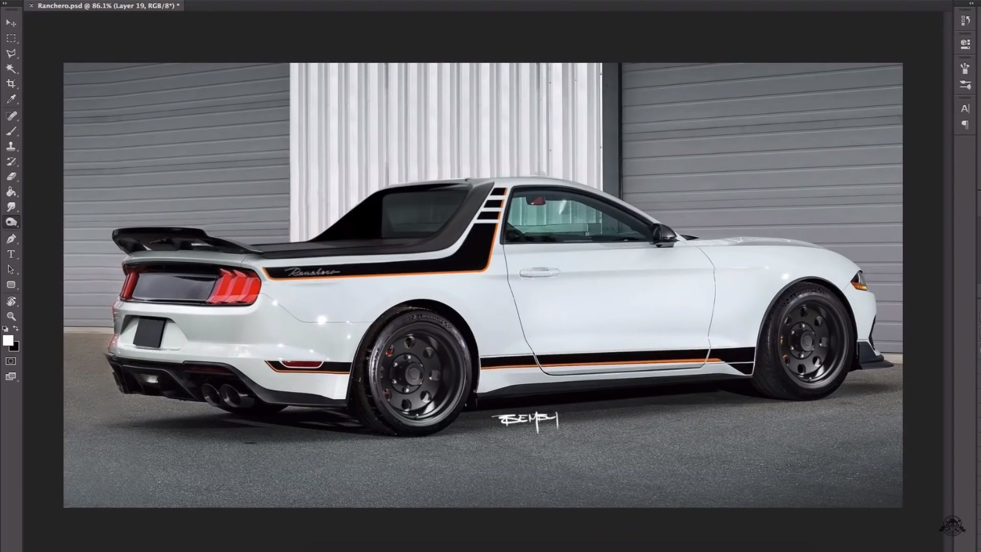 This Mustang Mach 1 Ford Ranchero Mashup Is Exactly The Car Ford Needs To Produce Top Speed In 2020 Car Ford Mustang Mach 1 Ford Mustang