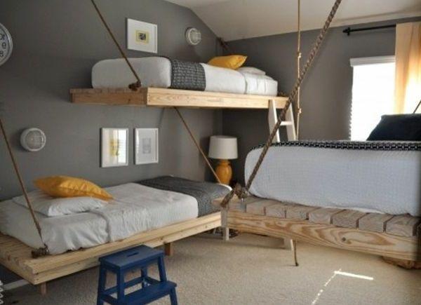 von der decke h ngende betten drei h ngende betten 25 traumhafte beispiele ideen rund. Black Bedroom Furniture Sets. Home Design Ideas