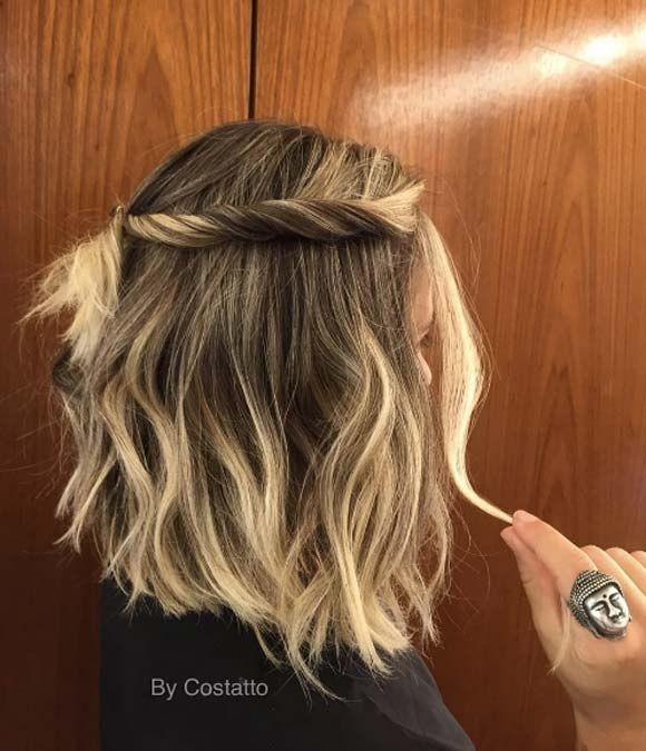 50 Facons Pour Tresser Vos Cheveux Courts Coiffures Et Accessoires