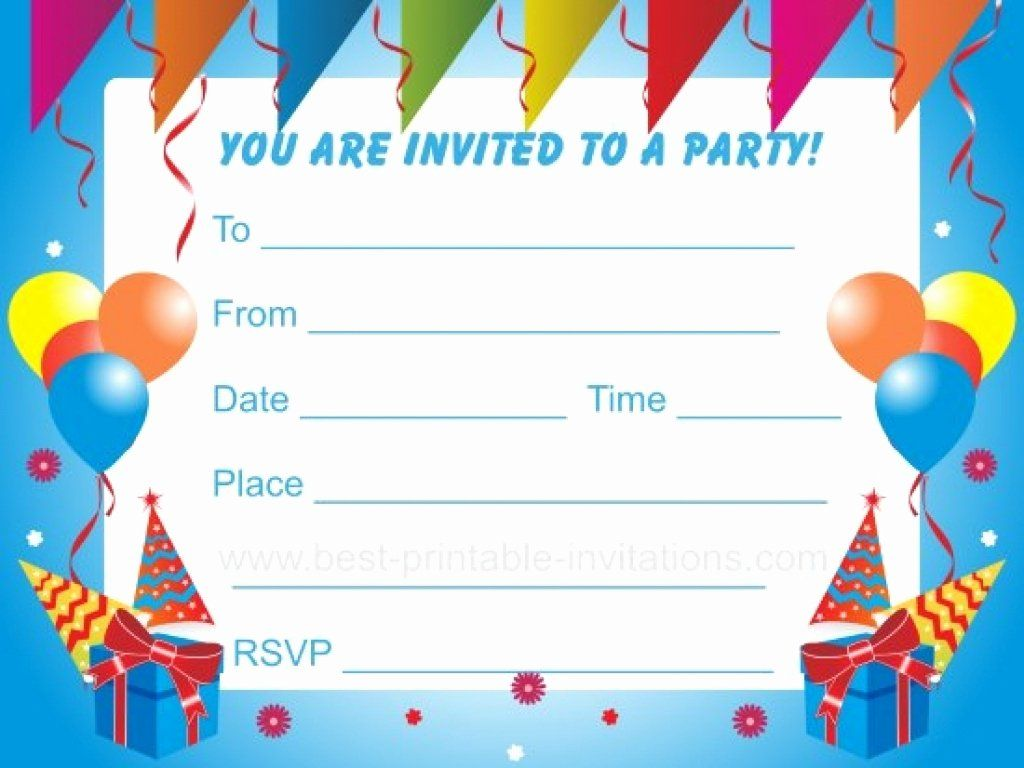Kids Party Invitation Template Lovely Kids Birthday Party Inv Kids Birthday Invitations Printable Birthday Party Invitations Printable Boy Birthday Invitations