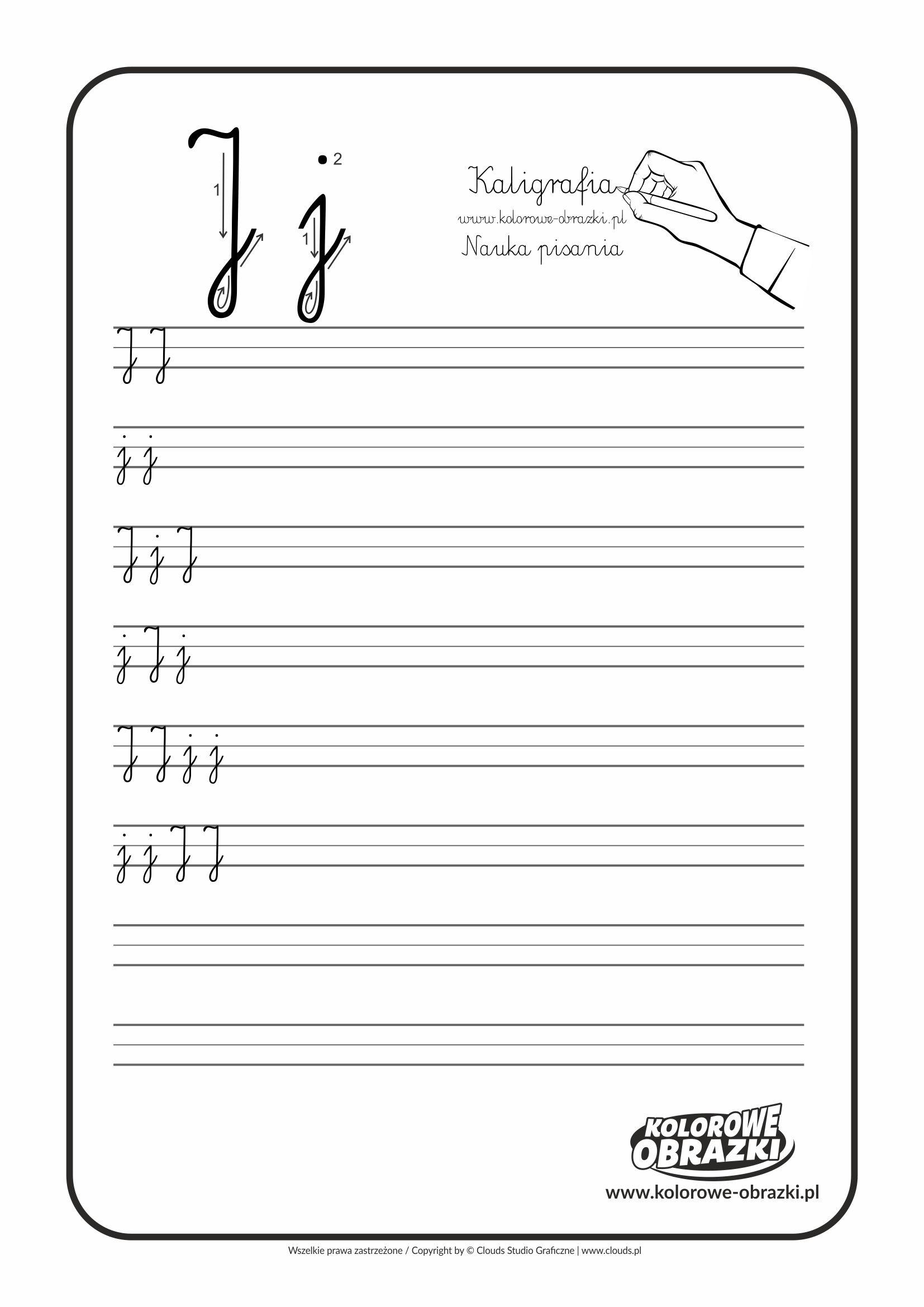 Kaligrafia Dla Dzieci Cwiczenia Kaligraficzne Litera J Nauka Pisania Litery J Letters For Kids Calligraphy For Kids Cool Coloring Pages