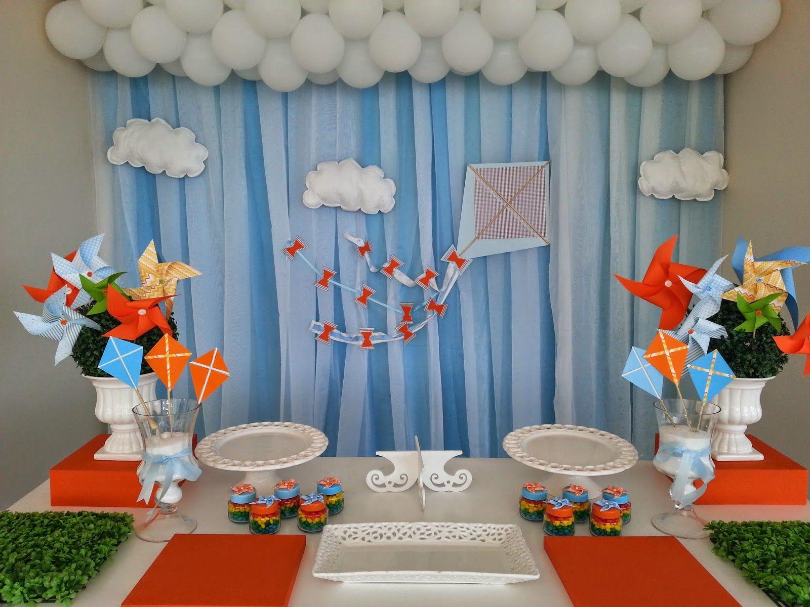 Momento nico decora o de festas infantis pipas e for Tablero del deco del sitio del bebe
