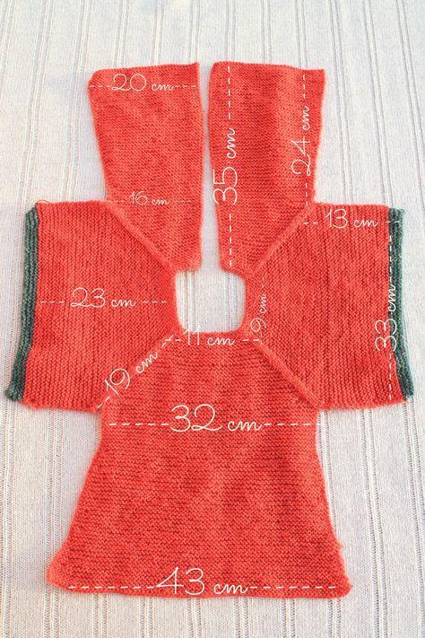 medidas patrón chaqueta punto niña talla 2 | Bebes | Pinterest ...