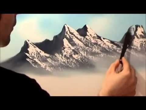 تعلم كيفية رسم لوحة فنية راااائعة لحصان جميييييل Youtube Bob Ross Paintings Mountain Paintings Oil Painting Tutorial