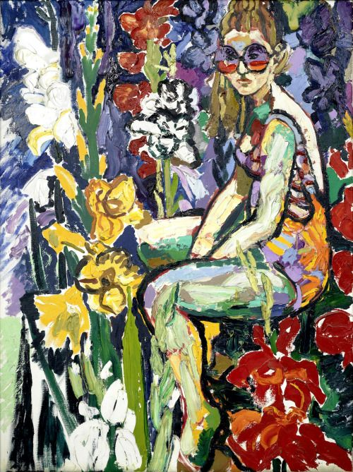 Pierre-Jean Maurel - dappledwithshadow:   John Bratty (British 1928-1992)Lady in...