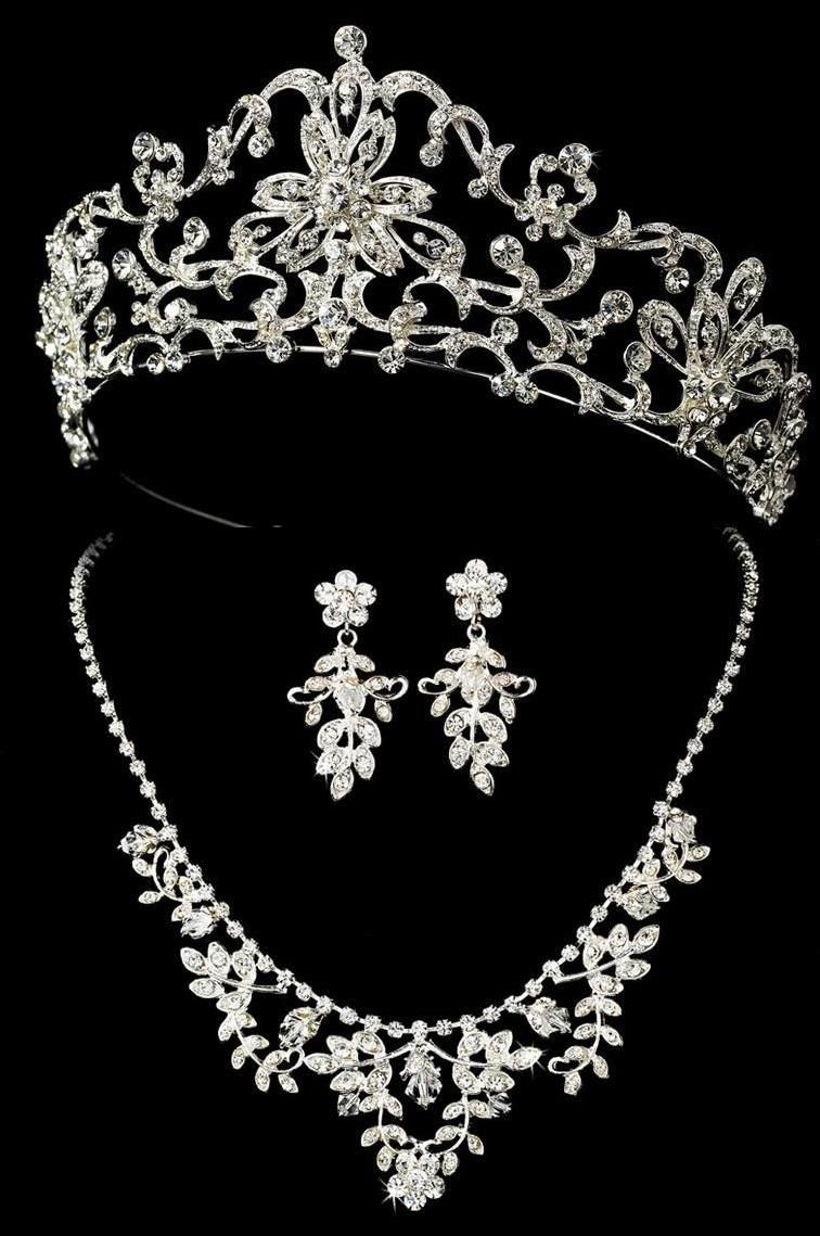 quinceanera earrings regal tiara and jewelry set for your quinceanera 9114