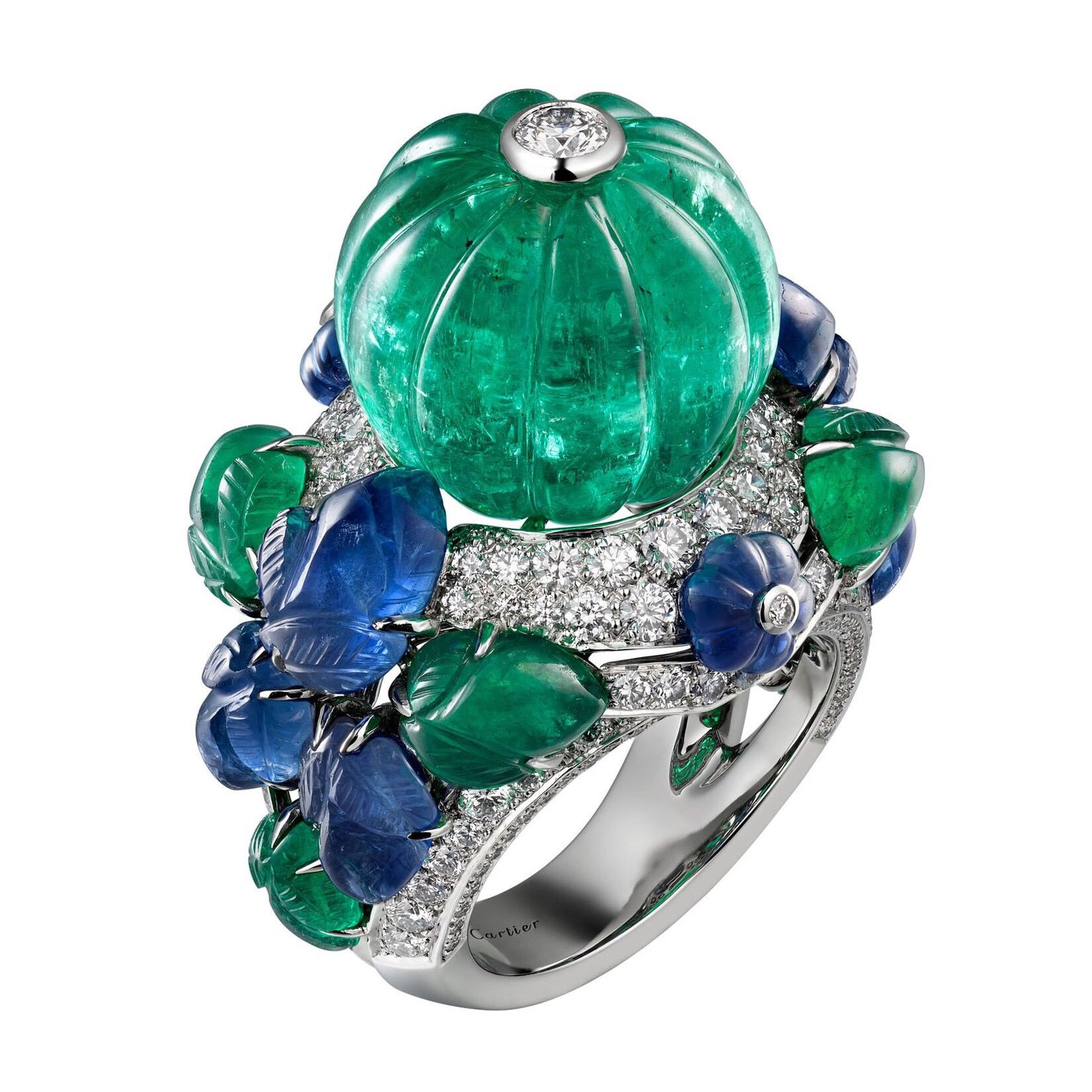 and online jewels diamond panthere s christie panth cartier christies emerald re bracelet