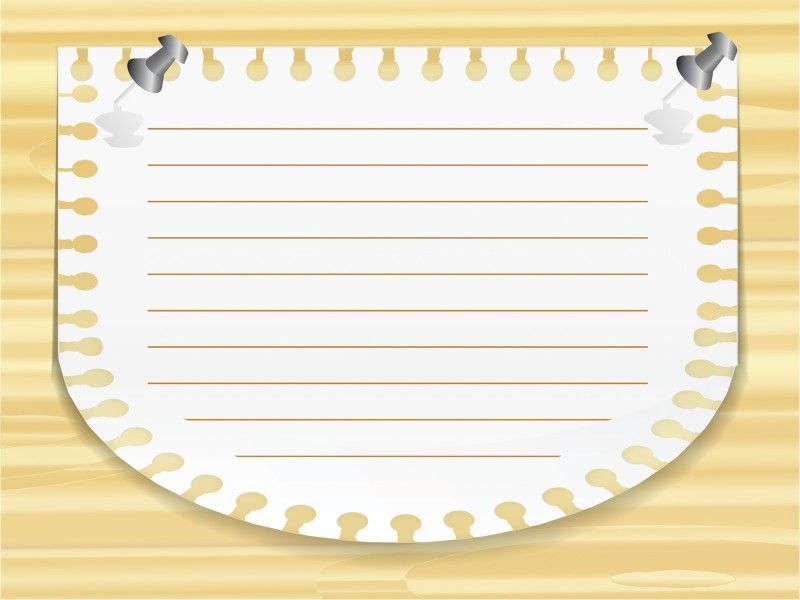 Note Paper Ppt Template Is A Free Powerpoint Background For