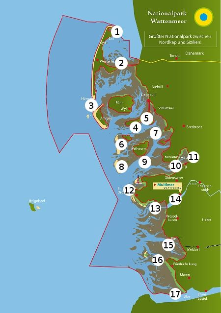 Luftbildpanoramen Nationalpark Wattenmeer Wattenmeer Ostsee