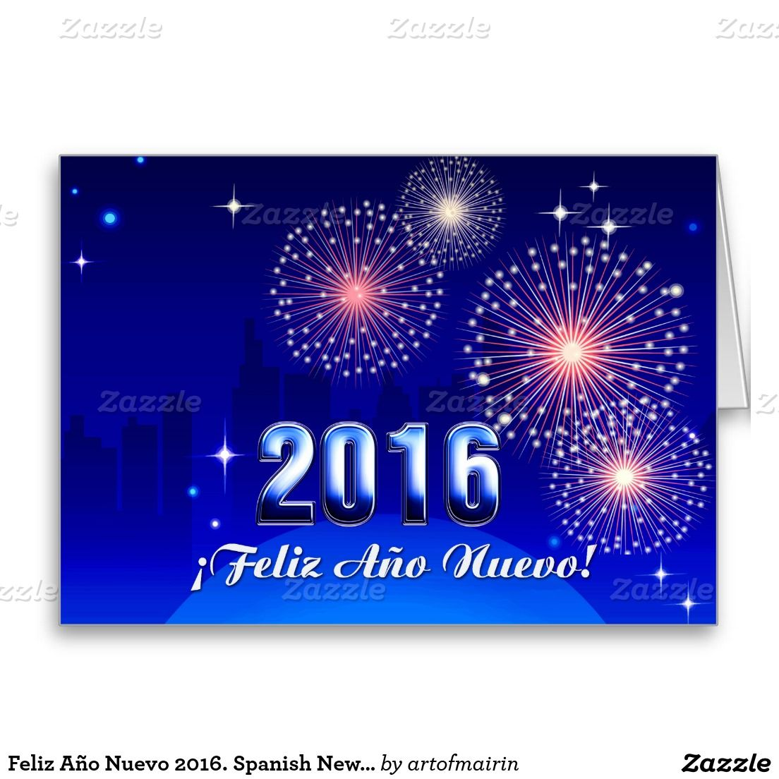 Feliz ao nuevo 2016 happy new year 2016 greeting cards in spanish happy new year 2016 greeting cards in spanish with a cityscape kristyandbryce Images