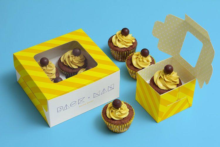 Download Cupcake Boxes Mockup Cupcake Boxes Packaging Box Mockup Mockup Free Psd