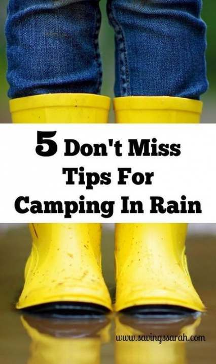 Tent camping in the rain tips 30+ ideas | Camping in the ...