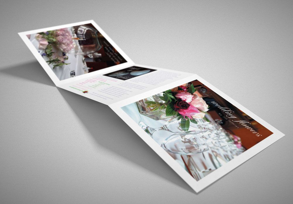 Wedding Flowers Folded Leaflet Design  Lunatrix Design  Lunatrix