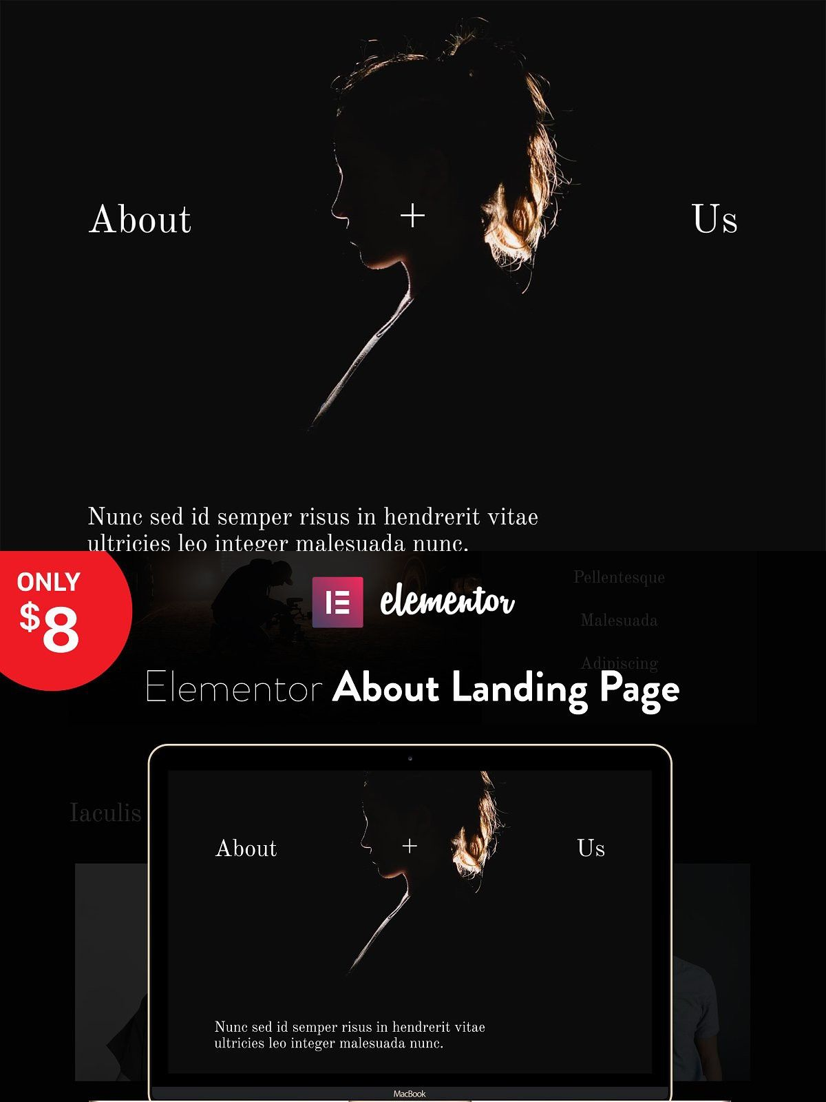 Elementor Landing Page Template Landing page, Page