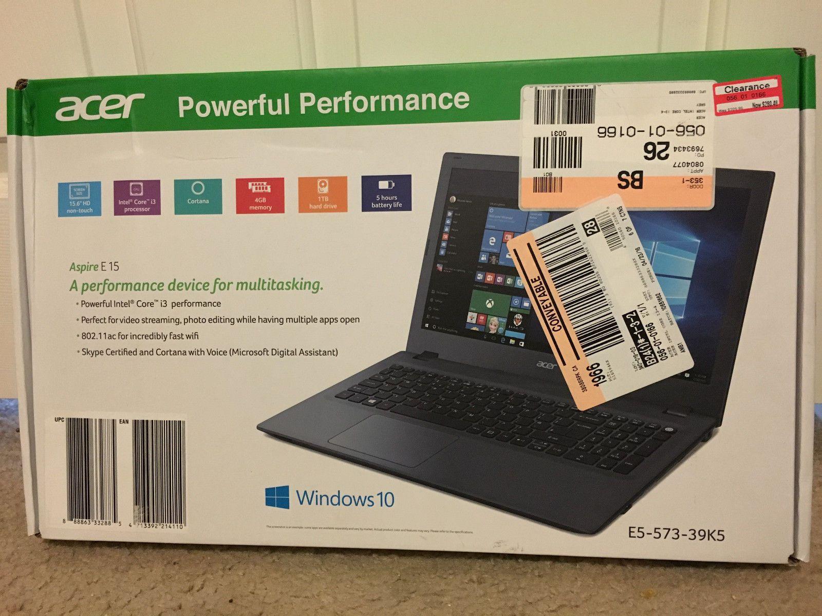 Acer Aspire E 15 E5 573 39k5 Laptop I3 4005u 4gb Ram 2tb Hdd 15 6 Windows 10 Windows 10 Multi Tasking Acer