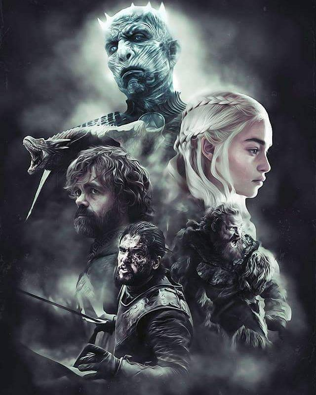Game Of Thrones [ Daenerys, Jon, Tyrion And Knight King