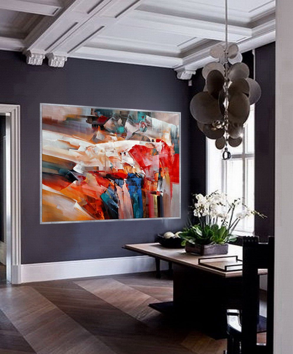 Bright Colorful Abstract Super Extra Large Oversize Horizontal
