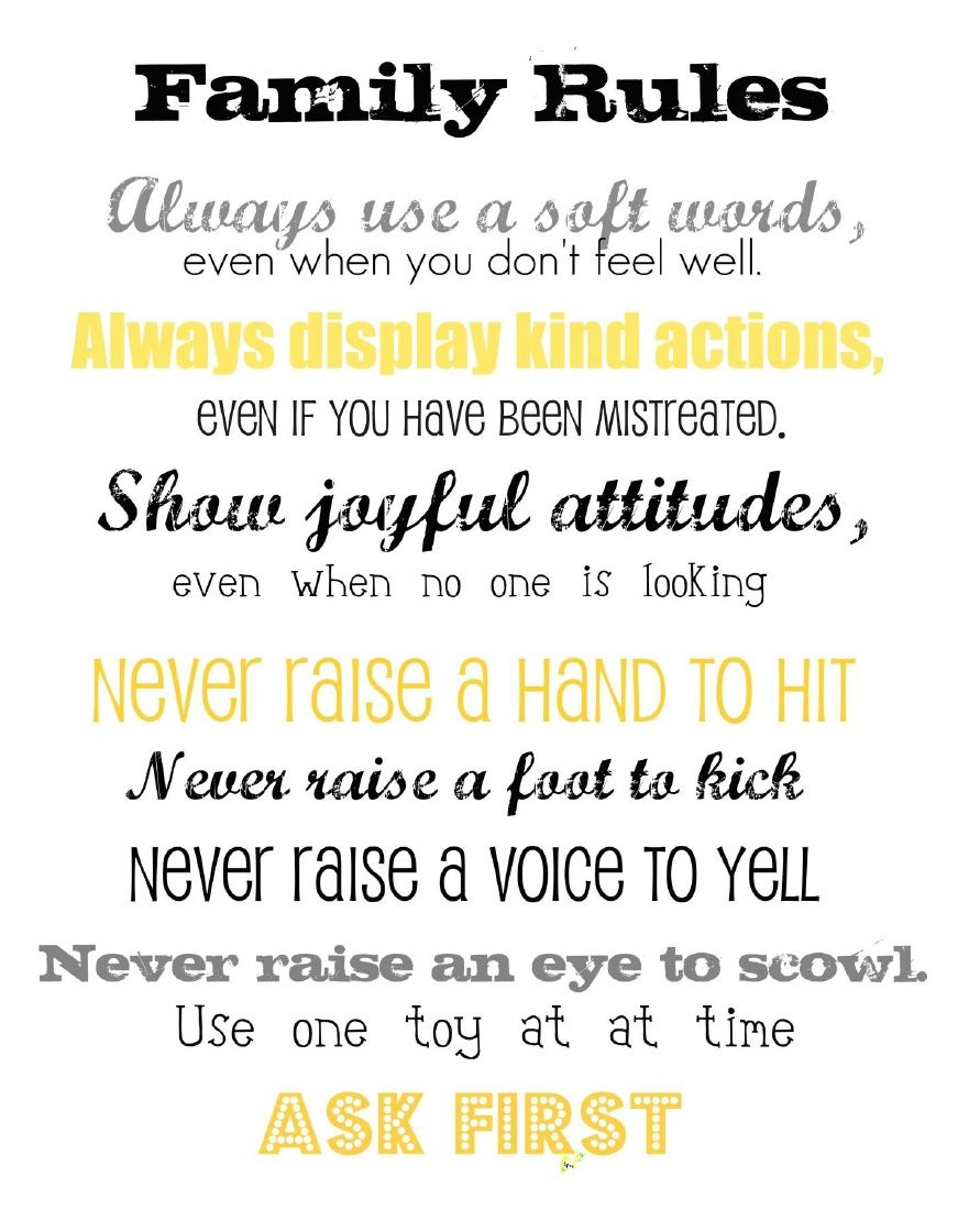 photo relating to Hand and Foot Rules Printable identify Duggar Household Pointers Printable, composed by way of Jenna Powell