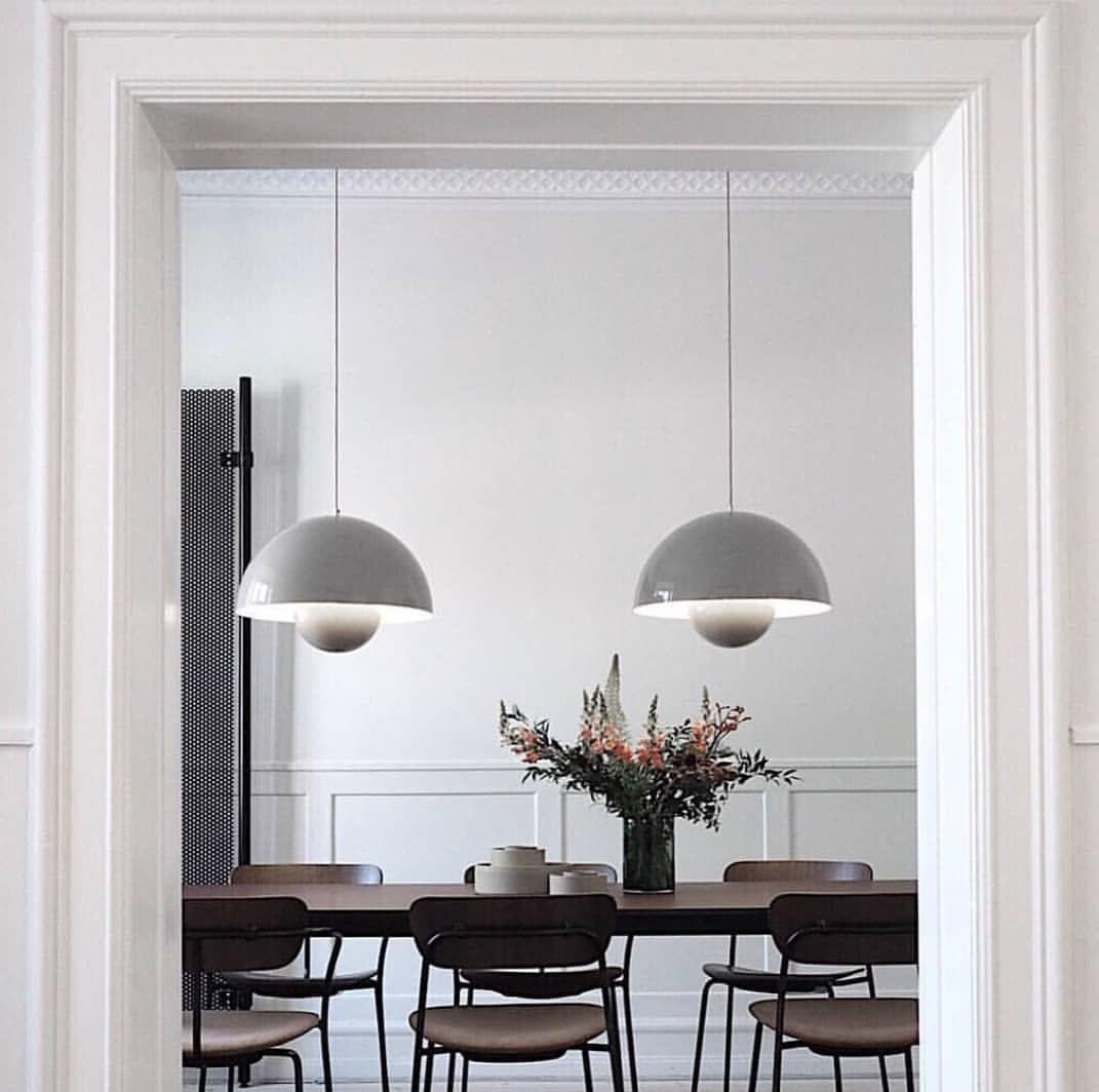 Beautiful Capture From Our Showroom In Copenhagen By Han House Flowerpot Vp2 In Grey Beige By Verner Panton 1 Pavilion Chair Flowerpot Pendant Pendant Light
