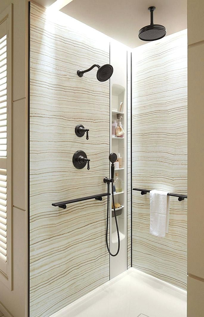 Kohlers Choreograph Shower Wall Accessory Collection Is A Bathroom Game Changer Because It Allowssolid Mat Bathroom Remodel Shower Shower Remodel Tile Bathroom