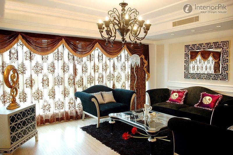 European curtain designs for modern living room window for Curtain for living room ideas
