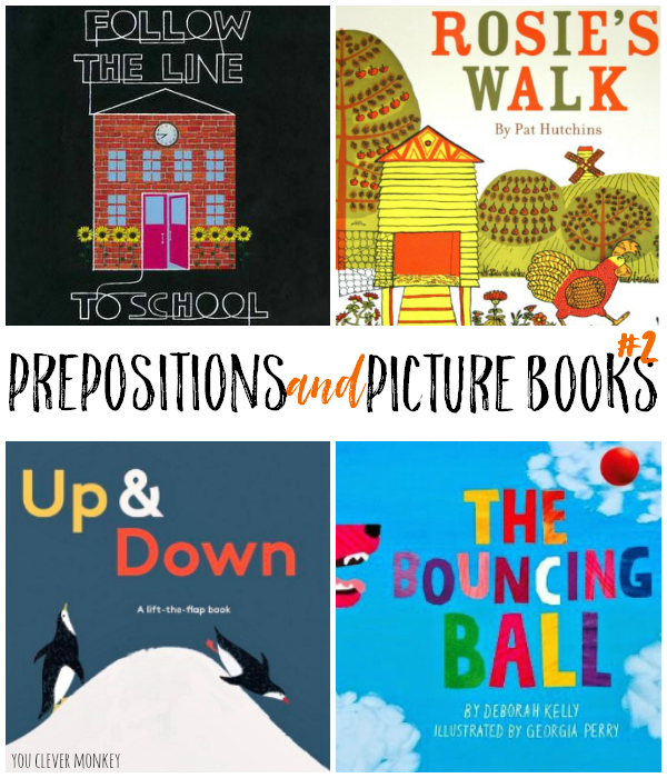 Prepositions And Picture Books 2 Literacy Books Math Picture Books Kindergarten Books