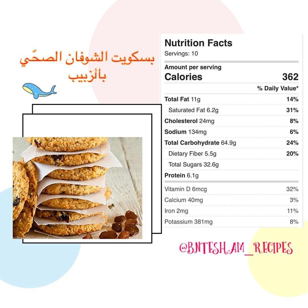 طريقة تحضير بسكويت الشوفان الصح ي بالزبيب Nutrition Nutrition Facts Carbohydrates