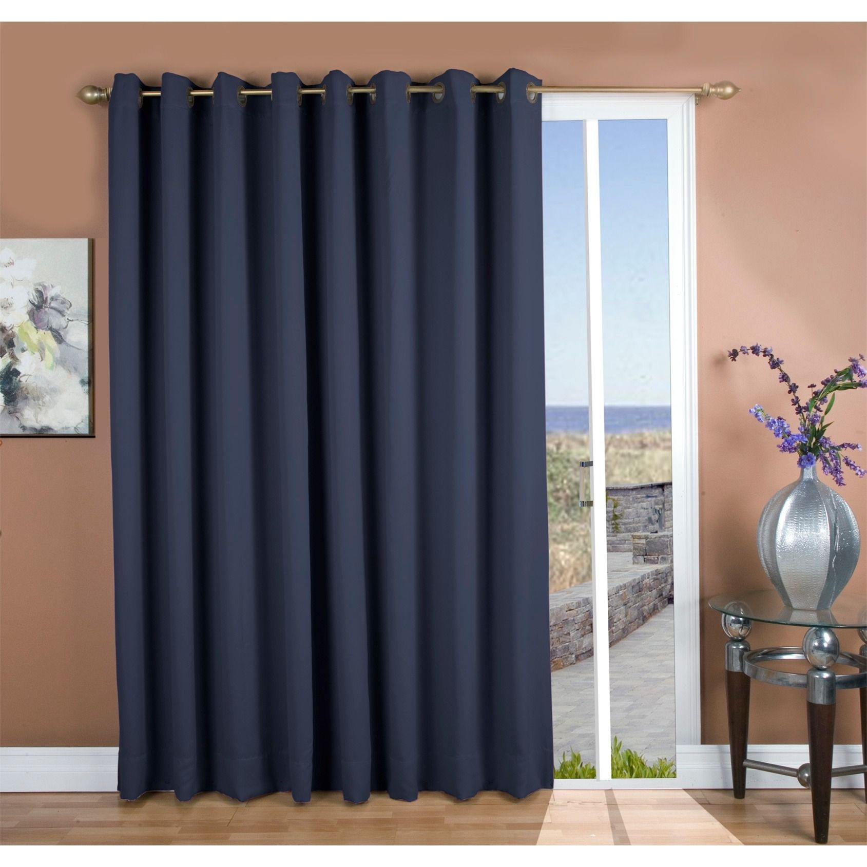 Fine Ricardo Ultimate Blackout Grommet Top Patio Curtain Panel Home Interior And Landscaping Oversignezvosmurscom