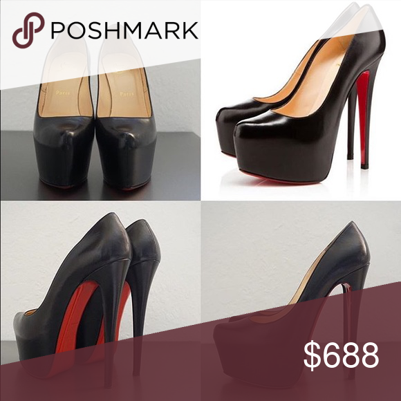 dfd604a9f42a3 Worn and will require some leather treatment and repair of soles Christian  Louboutin Shoes Heels