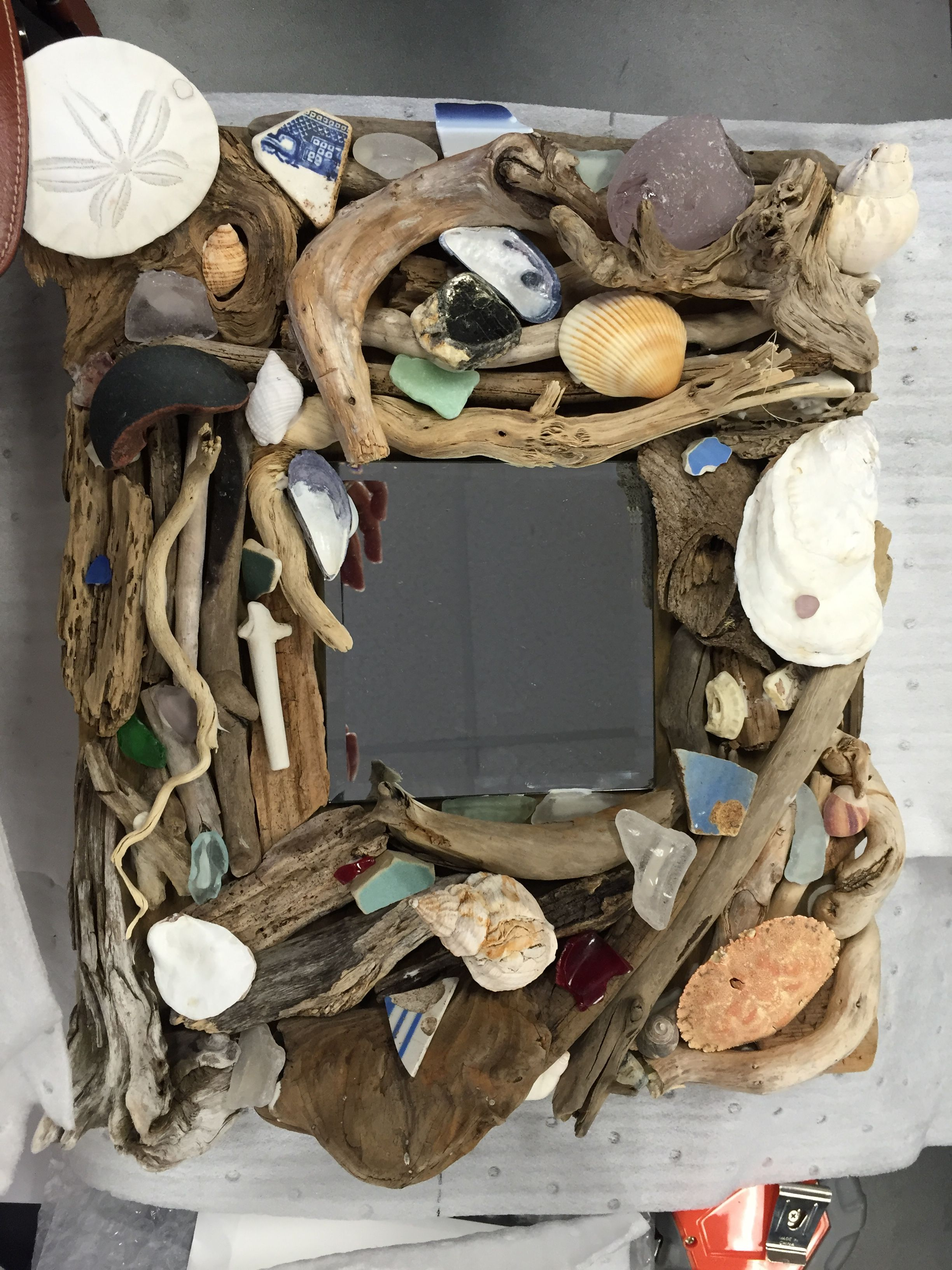 Driftwood Amp Seaglass Mirror My Projects Crafts