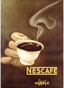 Nestle Nescafe Poster Fine Art Vintage Giclee Print Coffee Drinks Apps Facebook Com Bestofpinterest Coffee Poster Vintage Advertisements Nescafe