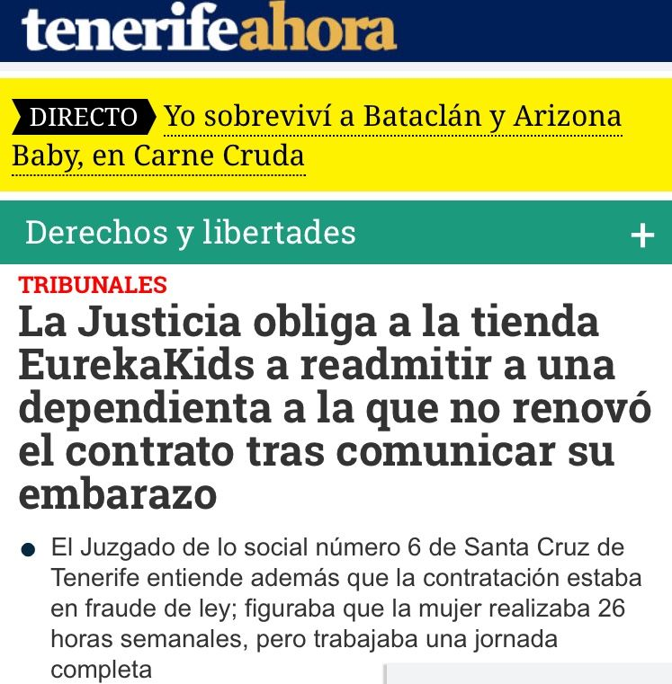 Tenerife Empresa Obligada A Readmitir Trabajadora Tras Haberla