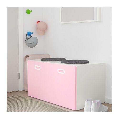 STUVA / FRITIDS Banco c/arrumação p/brinquedos, branco, verm | Catalog