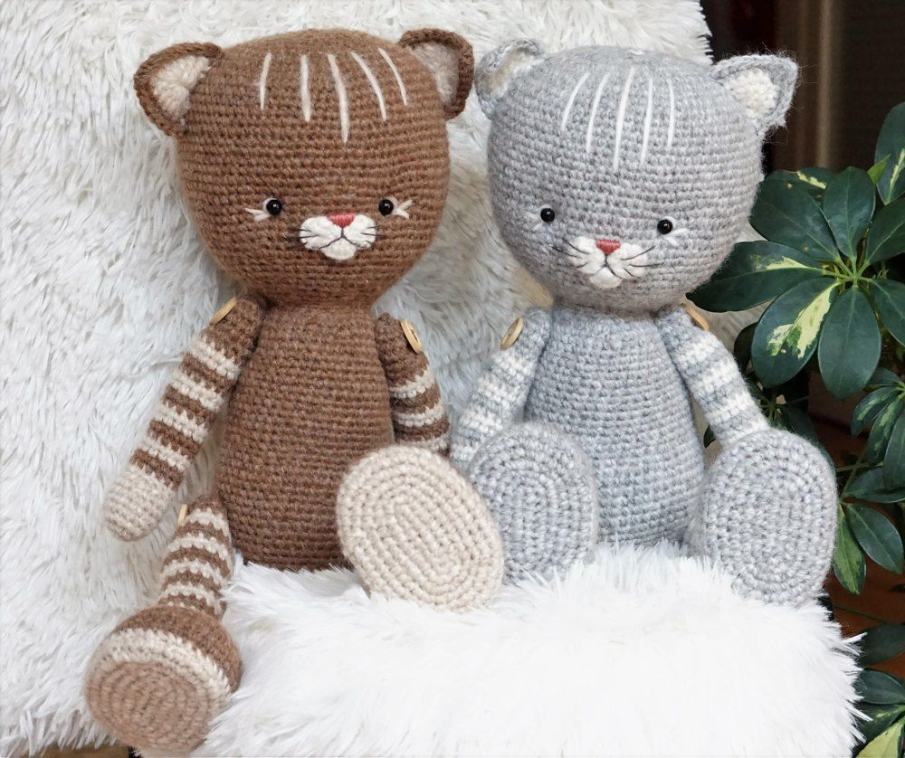 Purr Purr Kittens By Polushkbunny Crochet Pattern By Polushkabunny Crochet Cat Toys Crochet Amigurumi Stuffed Toys Patterns