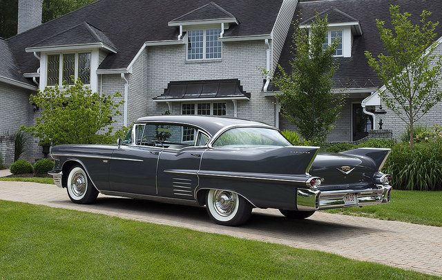 This Is A 1958 Cadillac Series 62 Extended Deck Sedan That I Shot In