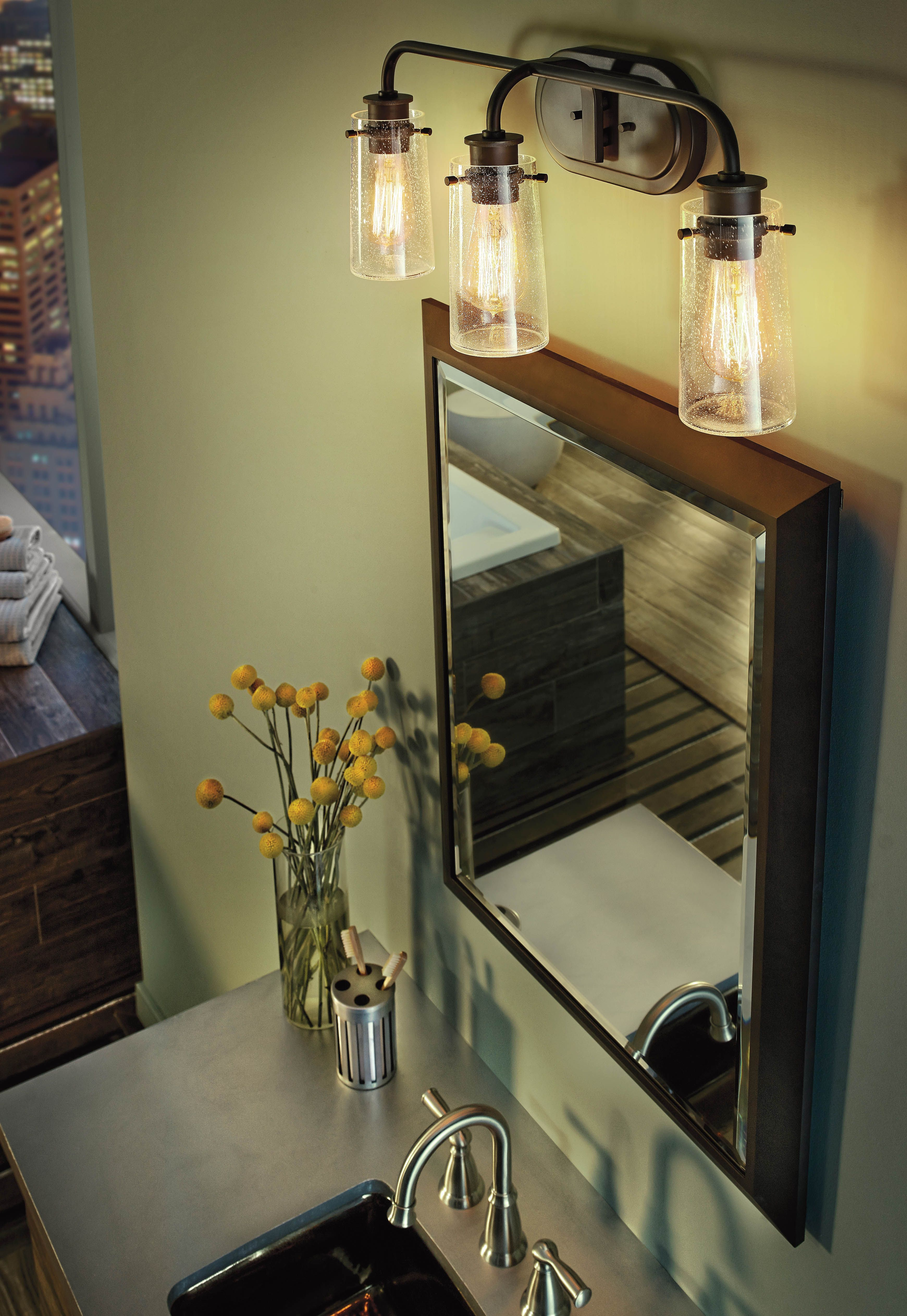 Bring a rustic light approach to your overhead vanity lighting in bring a rustic light approach to your overhead vanity lighting in your bathroom it is aloadofball Gallery