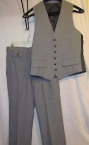 3 Piece Suit Vtg Austin Reed Glen Plaid 100 Wool Vest 2 Button Blazer Trouser Ebay Blazer Buttons Wool Vest Glen Plaid