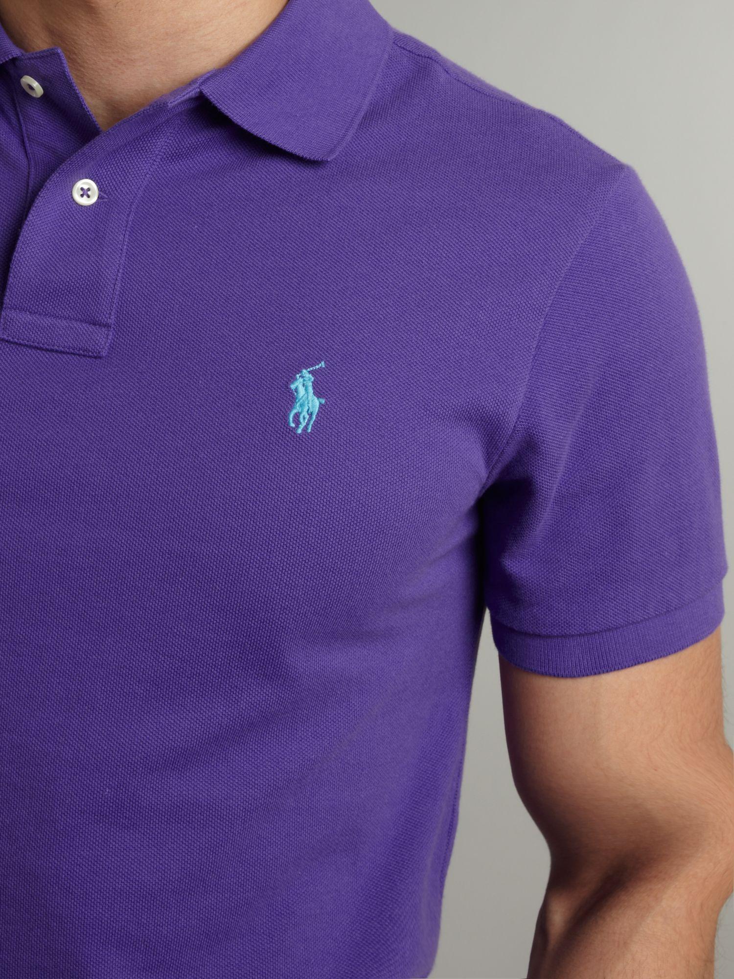 10c3dddf lavender polo lauren | Polo ralph lauren Slim Fitted Polo Shirt in Purple  for Men .