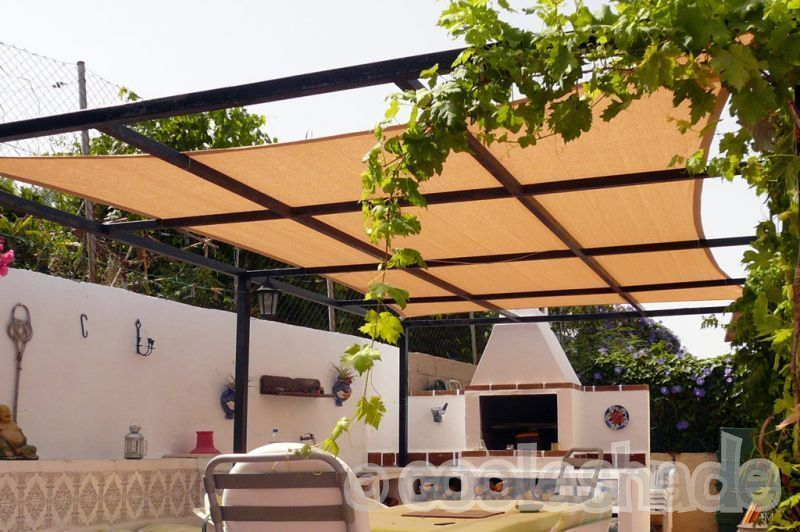 Interesting Idea For Pergola Roof Shade Sail Over Top