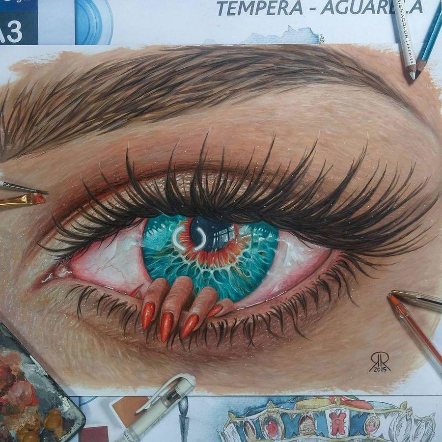 Beautiful Artworks Ronald Restituyo Artwork In 2019 Realistic Eye Tattoo