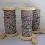 Repurposing Craft Ideas — Newspaper Yarn!!!