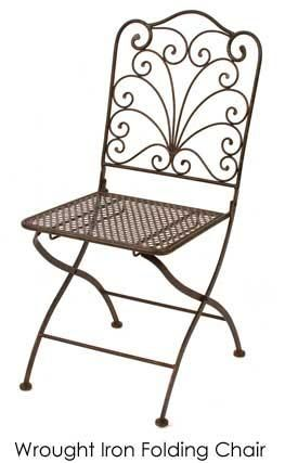 Wrought Iron Folding Chair Town Country Event Rentals Iron