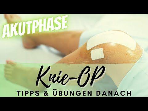 Knie-OP: Übungen und Tipps für die Akutphase nach der Operation - YouTube