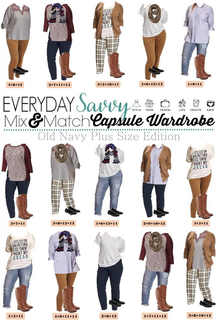 1fed0f6fa9d3 I love this new Old Navy plus size capsule wardrobe for fall. It includes  fun plaid pants, a graphic tee, and cozy cardigans. This set has just 15  pieces ...