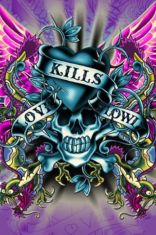 Love kills by ed hardy ed hardy ed hardy tattoos ed - Ed hardy designs wallpaper ...