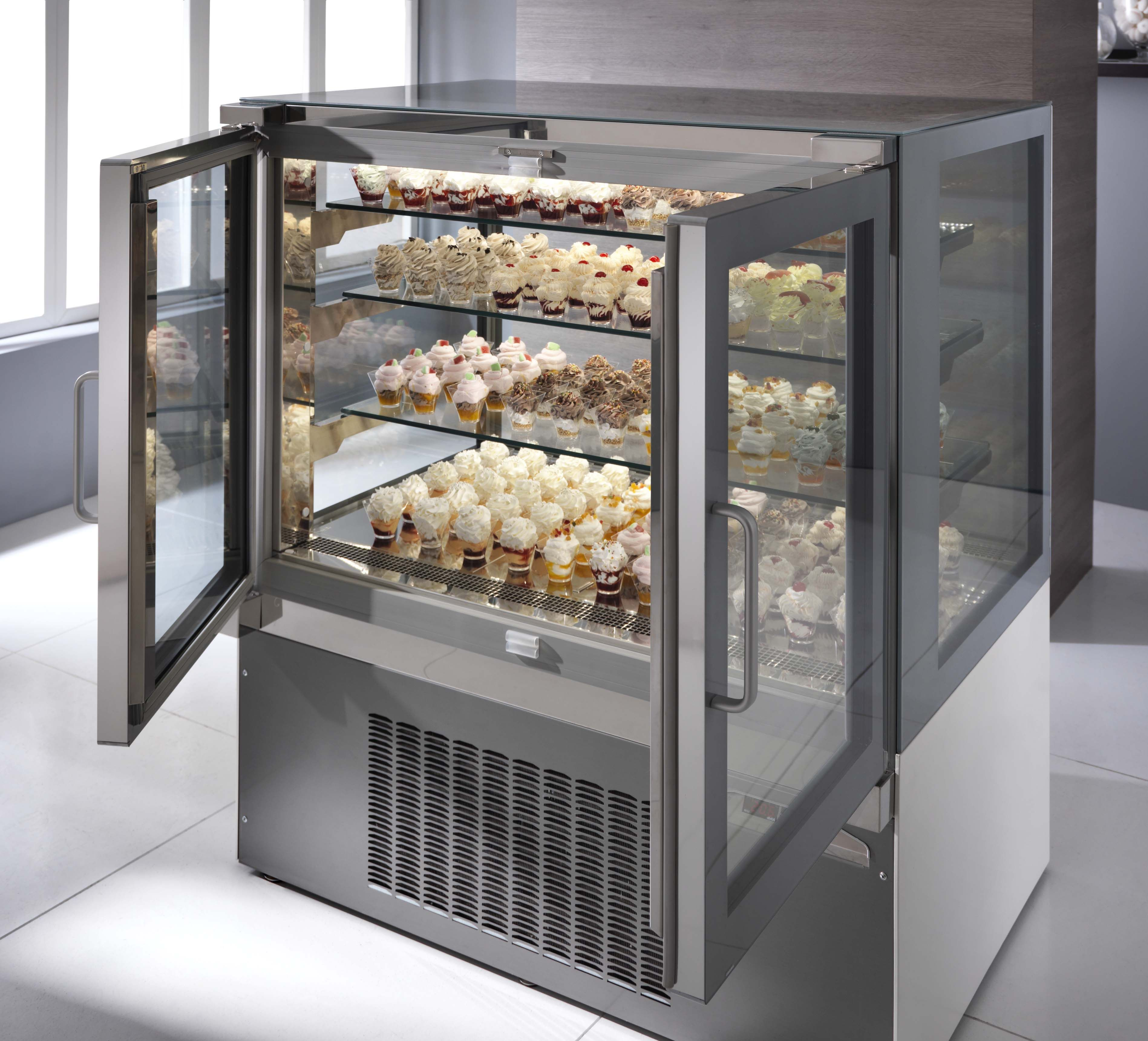 Showcase Pastries Chocolates Cakes Cookies And More In The Pastry Tortuga Display Case By Ciam With Optional 1 Design Display Refrigerator Glass Showcase