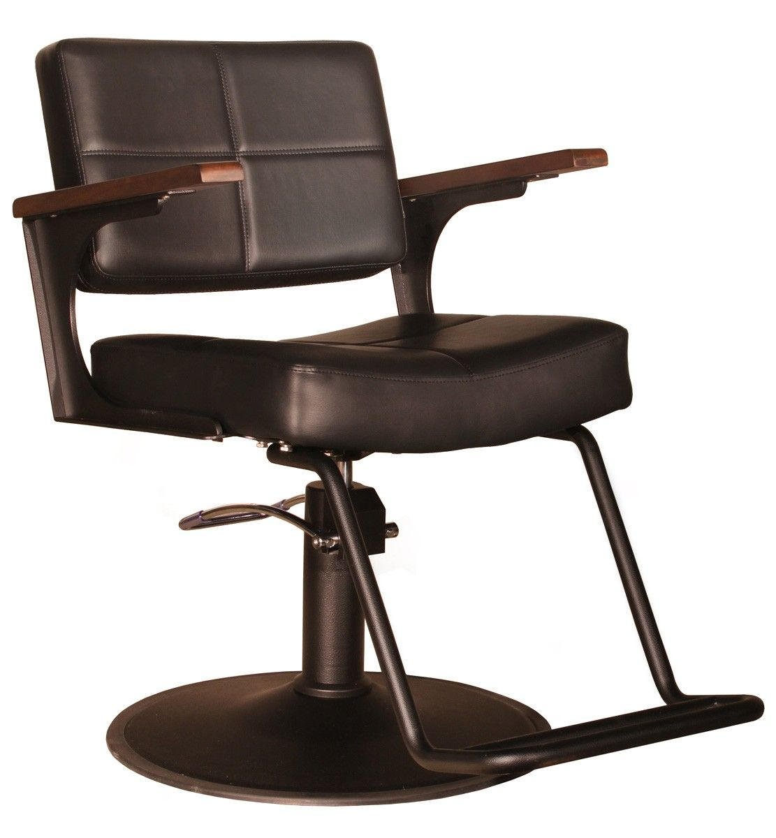 The Element blends mid-century modern and 21st-century industrial design into an impeccably built chair. What the Element in Espresso offers the stylist is the juxtaposition of workhorse practicality and elegantly graceful lines. It is constructed with an exposed and reinforced all steel, powder coated frame for unbelievable strength and indestructability. The wooden accented arm rests bring warmth to the chair and overstuffed seat cushions offer your clients the ultimate in seating…