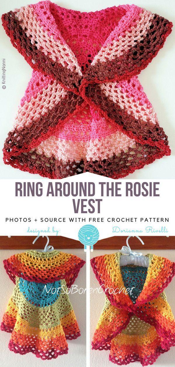 Ring Around the Rosie Vest Free Crochet Pattern - Free Crochet Patterns