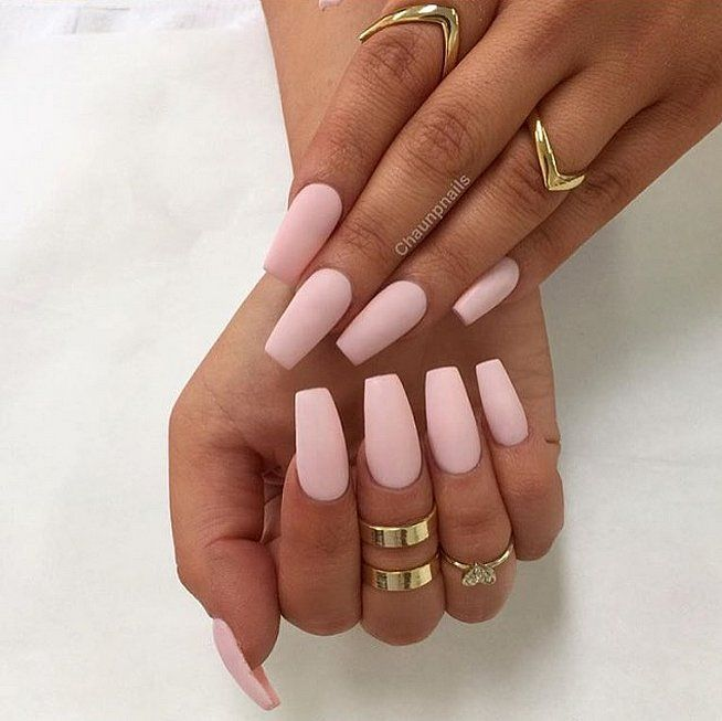 30 Manicure Ideas That Will Make You Mad For Matte   Heavens, Shapes ...